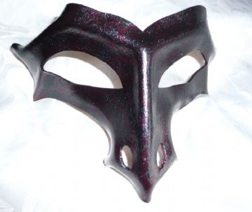 Genuine Handmade Leather Dragon Half Mask (1)